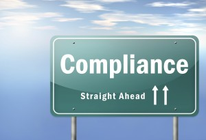 Highway Signpost with Compliance wording